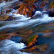 Flow white water — Stock Photo