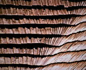 Wooden shingle roof — Stock Photo