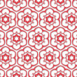 Six pointed flowered pattern — Stock Photo