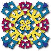 Aztec mandala sun — Stock Photo