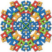Aztec mandala — Stock Photo