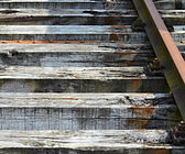 Section of old railway sleepers — Stock Photo