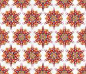 Fabric mandala harsh sunlight — Stock Photo