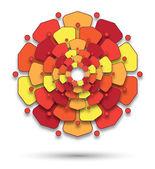 Mandala with flowery petals — Stock Photo