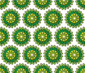 Greenish yellow florets — Stock Photo