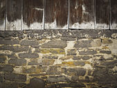 Gamla ladugården vägg — Stockfoto