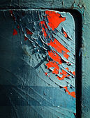 Cracked paint on the door — Stock Photo