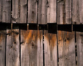 Wood paneling the threshing floor — Stock Photo