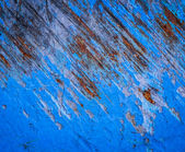 Azul pintura rajada — Foto de Stock