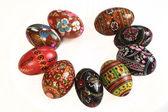 Ukrainian Easter Eggs Decorated, isolated on white — Stock Photo