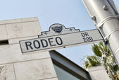 Rodeo Drive sign in Beverly Hills — Stock Photo