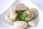 Handmade poppy seed cookies — Stock Photo
