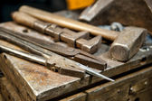 Metal crafting tools — Stock Photo
