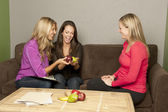 Nutritionists women consult a pregnant female — Stock Photo