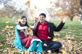 A Young Happy Indian Couple — Stock Photo