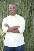 Young black man outdoors — Stok fotoğraf