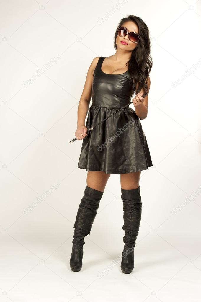 Asian girl leather