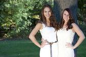 Young girls posing outdoor — Stockfoto