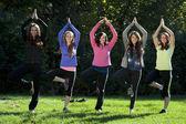 Meditation yoga pose — Stock Photo