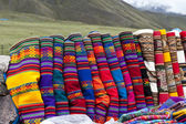 Set of alpaca designed scarves — Stock Photo