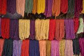 Alpaca yarn drying — Stock Photo
