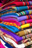 Alpaca designed scarves — Stock Photo