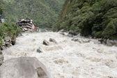 Water rapids near Machu Picchu — Stock Photo