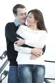 Young couple at the park — Stock Photo