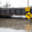 Flooded roadway in the Chicago area — Stock Photo #50618107