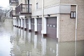 Flooded roadway in the Chicago area — Stock Photo