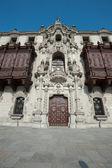 Katedra w plaza mayor, lima, peru — Zdjęcie stockowe