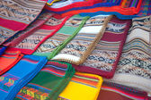 Market textiles- Bolivia — Stock Photo