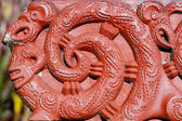 Maori carving - Rotorua, New Zealand — Stock Photo