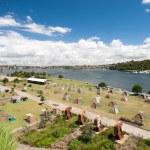 Tent City, Cockatoo Island, Sydney, Australia. — Stock Photo