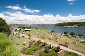 Tent City, Cockatoo Island, Sydney, Australia. — Stock Photo
