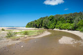 Moonee Beach estuary in Australia — Stock Photo