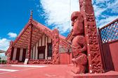 Maori marae (meeting house and meeting ground) — Stock Photo