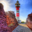 Stock Photo: Punto Teno Lighthouse in north-west coast of Tenerife, Canarian