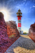 Punto Teno Lighthouse in north-west coast of Tenerife, Canarian — Stock Photo