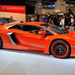 FRANKFURT - SEPT 14: Hamann Nervudo Lamborghini Aventador presen — Stock Photo