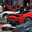 Постер, плакат: FRANKFURT SEPT 14: Ferrari 458 italia presented as world premi