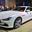 Постер, плакат: FRANKFURT SEPT 14: Maserati Ghibli presented as world premiere
