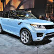 Постер, плакат: FRANKFURT SEPT 14: Land Rover Range Rover presented as world p
