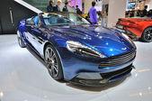 FRANKFURT - SEPT 14: Aston Martin Vanquish Coupe presented as wo — Stock Photo