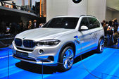 FRANKFURT - SEPT 14: BMW X5 2013 presented as world premiere at — Stock Photo