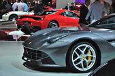 FRANKFURT - SEPT 14: Ferrari F12 Berlinetta presented as world p — Stock Photo