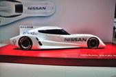 FRANKFURT - SEPT 14: Nissan Unveils Electric Zeod Race Car prese — Foto Stock
