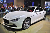 FRANKFURT - SEPT 14: Maserati Ghibli presented as world premiere — Stock Photo