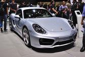 FRANKFURT - SEPT 14: Porsche Cayman S presented as world premier — 图库照片