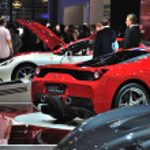 ������, ������: FRANKFURT SEPT 14: Ferrari 458 italia presented as world premi